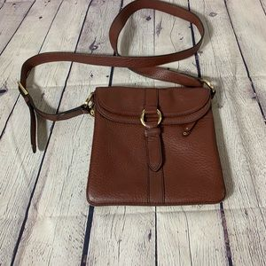 Cole Haan burgundy leather crossbody bag